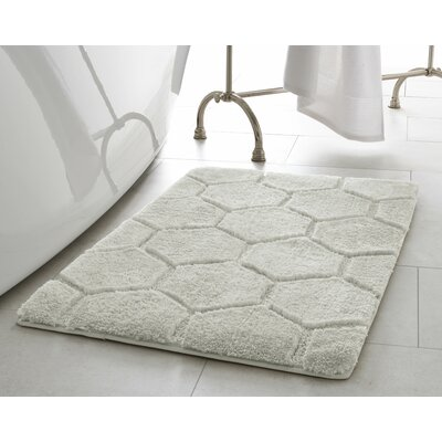 Pearl Honeycomb Bath Mat Size: 17 x 24, Color: Cream Puff
