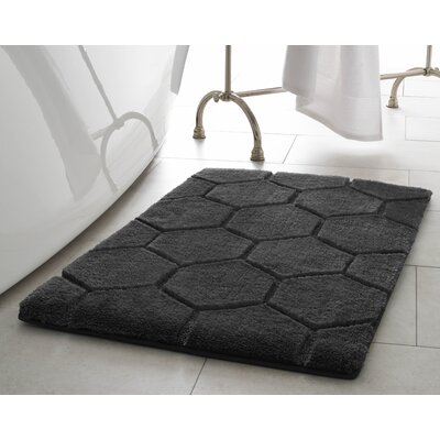 Pearl Honeycomb 2 Piece Bath Mat Set Color: Gray Street
