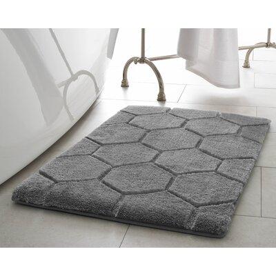 Pearl Honeycomb 2 Piece Bath Mat Set Color: Light Grey