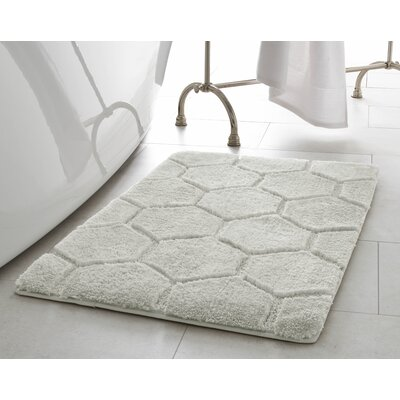 Pearl Honeycomb 2 Piece Bath Mat Set Color: Cream Puff