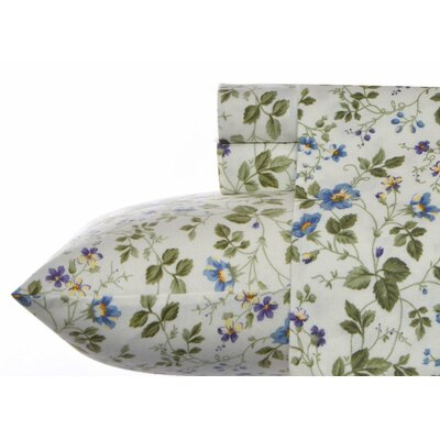 Spring Bloom Flannel 4 Piece Sheet Set Size: Full