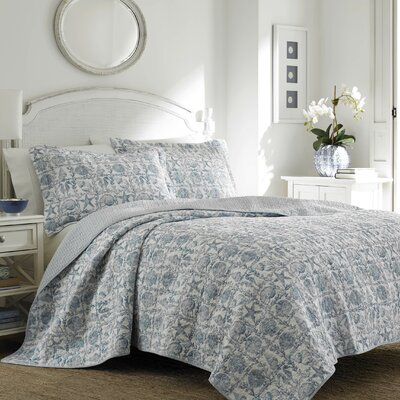 Bettina Beach Reversible Quilt Set by Laura Ashley Home Size: King