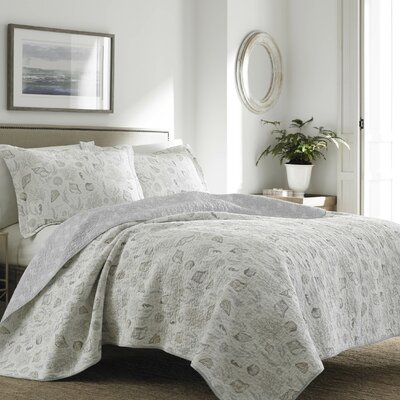 Harmony Coast Quilt Set by Laura Ashley Home Size: Twin