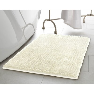2 Piece Butter Chenille Bath Rug Set Color: Ivory