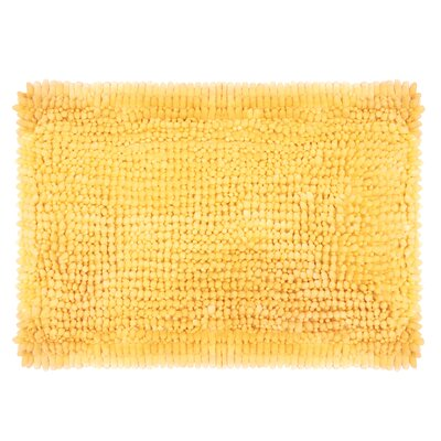 Butter Chenille Bath Rug Size: 17 W x 24 L, Color: Yellow