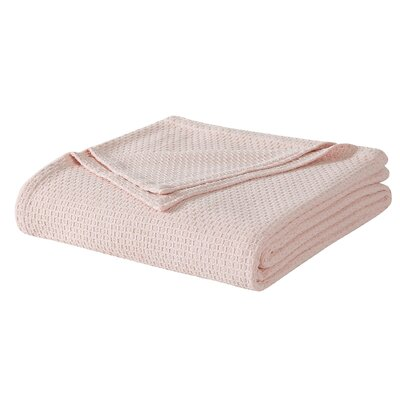 Cotton Blanket Size: Twin, Color: Blush