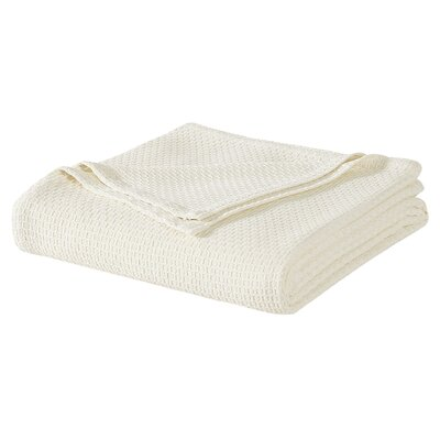 Cotton Blanket Size: King, Color: Ivory