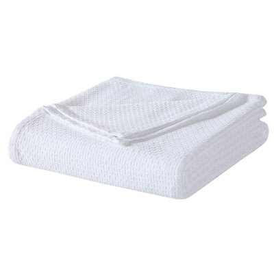 Cotton Blanket Size: King, Color: White