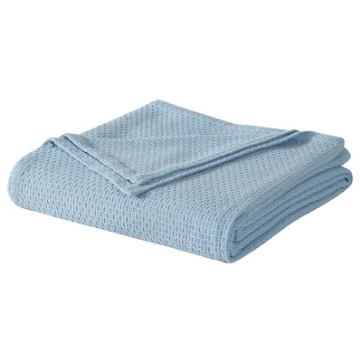 Cotton Blanket Size: Twin, Color: Light Blue