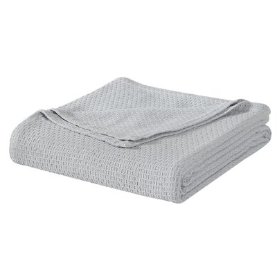 Cotton Blanket Size: King, Color: Gray