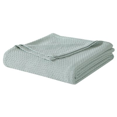 Cotton Blanket Size: King, Color: Sage