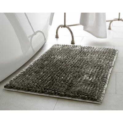Butter Chenille Bath Rug Color: Charcoal, Size: 17 W x 24 L