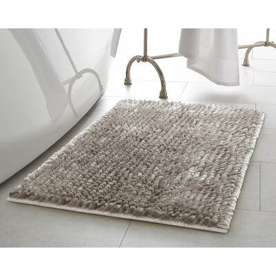 Butter Chenille Bath Rug Color: Light Gray, Size: 27 W x 45 L