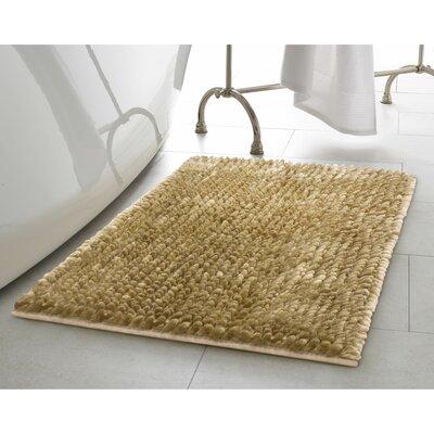 Butter Chenille Bath Rug Color: Linen, Size: 20 W x 34 L
