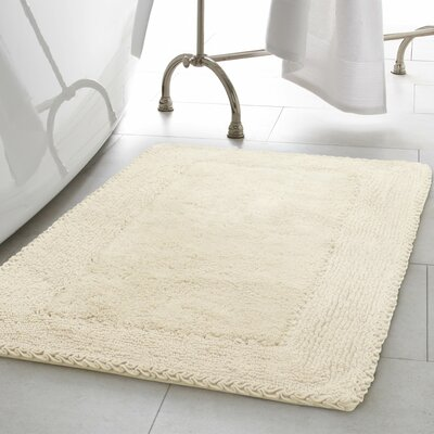 Ruffle Cotton Bath Rug Color: Ivory