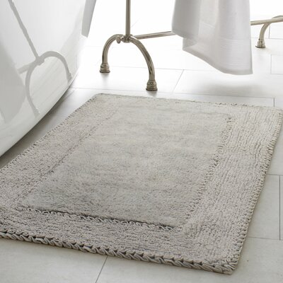 Ruffle Cotton Bath Rug Color: Light Gray