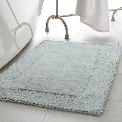 Ruffle Cotton Bath Rug Color: Aqua