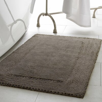Ruffle Cotton Bath Rug Color: Dark Gray