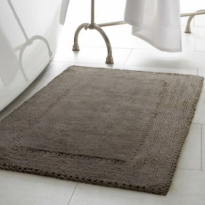 2 Piece Ruffle Cotton Bath Rug Set Color: Dark Gray