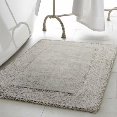 2 Piece Ruffle Cotton Bath Rug Set Color: Light Gray