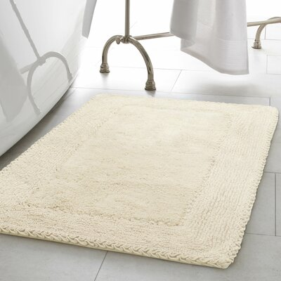 2 Piece Ruffle Cotton Bath Rug Set Color: Ivory