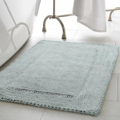 2 Piece Ruffle Cotton Bath Rug Set Color: Aqua