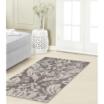 Connemara Jacquard Chenille Gray Area Rug Rug Size: 4 x 6