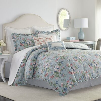 Olivia Reversible Comforter Set Size: Queen