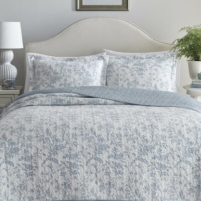 Amberley Reversible Quilt Set by Laura Ashley Home Size: Twin