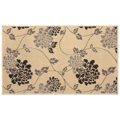 Jaya Stencil Chrysanthemum Beige Indoor/Outdoor Area Rug Rug Size: 8 x 11