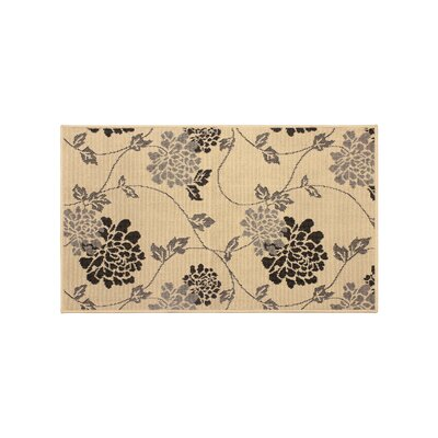 Jaya Stencil Chrysanthemum Beige Indoor/Outdoor Area Rug Rug Size: 2 x 3