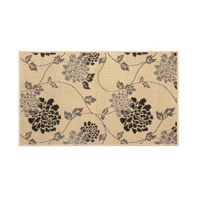Jaya Stencil Chrysanthemum Beige Indoor/Outdoor Area Rug Rug Size: 4 x 6