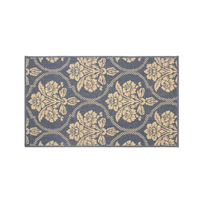 Jaya Tatton in Chain Blue/Beige Indoor/Outdoor Area Rug Rug Size: 23 x 39