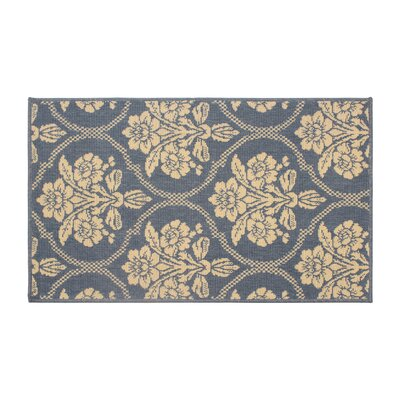 Jaya Tatton in Chain Blue/Beige Indoor/Outdoor Area Rug Rug Size: 5 x 8