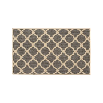 Jaya Arietta Gray Indoor/Outdoor Area Rug Rug Size: 23 x 39