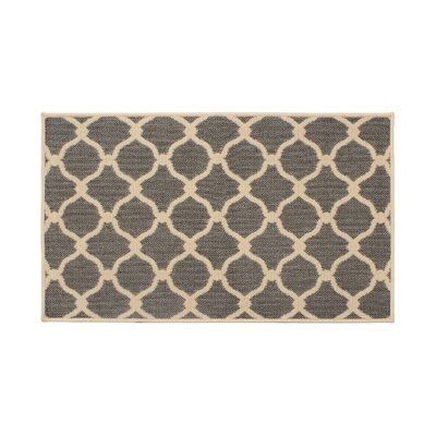 Jaya Arietta Gray Indoor/Outdoor Area Rug Rug Size: 4 x 6