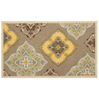 Jaya Allie Taupe/Yellow Indoor/Outdoor Area Rug Rug Size: 8 x 11
