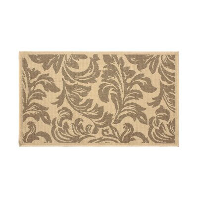 Jaya Devon Taupe/Beige Indoor/Outdoor Area Rug Rug Size: 4' x 6'
