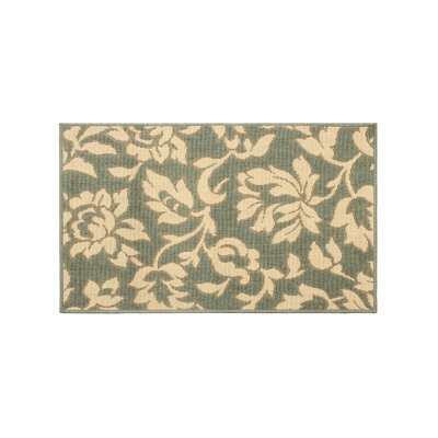 Jaya Bennet Green/Beige Indoor/Outdoor Area Rug Rug Size: 2' x 3'