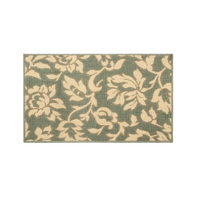 Jaya Bennet Green/Beige Indoor/Outdoor Area Rug Rug Size: 2'3