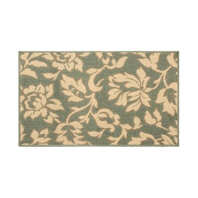 Jaya Bennet Green/Beige Indoor/Outdoor Area Rug Rug Size: 4' x 6'