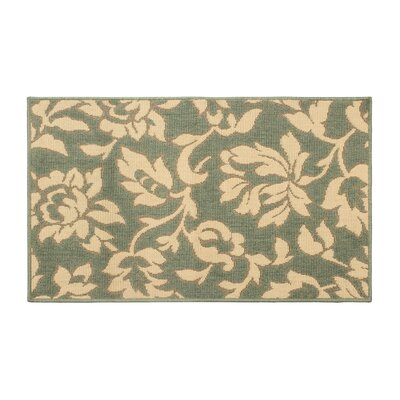 Jaya Bennet Green/Beige Indoor/Outdoor Area Rug Rug Size: 5 x 8