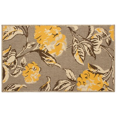 Jaya Hydrangea Yellow/Beige Indoor/Outdoor Area Rug Rug Size: 8 x 11