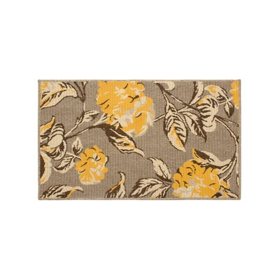 Jaya Hydrangea Yellow/Beige Indoor/Outdoor Area Rug Rug Size: 2 x 3