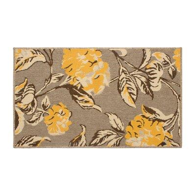 Jaya Hydrangea Yellow/Beige Indoor/Outdoor Area Rug Rug Size: 5 x 8