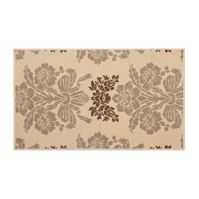 Jaya Tatton Taupe/Beige Indoor/Outdoor Area Rug Rug Size: 5 x 8