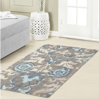 Penelope Jacquard Chenille Light Blue/Gray Area Rug Rug Size: 23 x 39