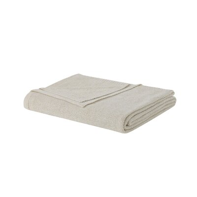 Metallic Blanket Size: King, Color: Beige