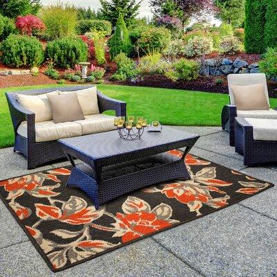 Jaya Carlisle Orange Indoor/Outdoor Area Rug Rug Size: 4 x 6