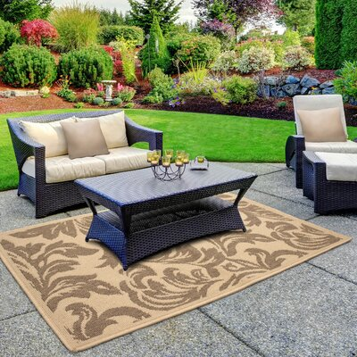 Jaya Devon Taupe/Beige Indoor/Outdoor Area Rug Rug Size: 5 x 8